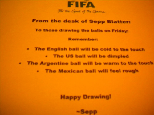 world cup draw joke1 World Cup Draw: Sepp Blatter Provides Detailed Instructions