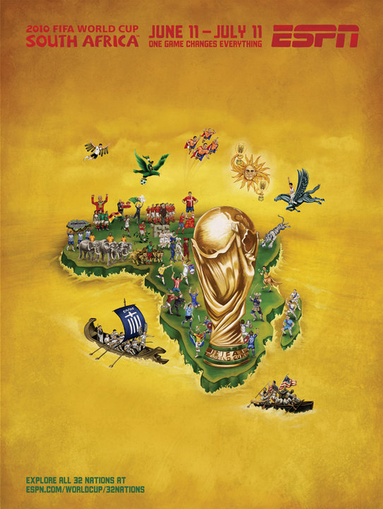All 32 Nations ESPN's 2010 FIFA World Cup Murals