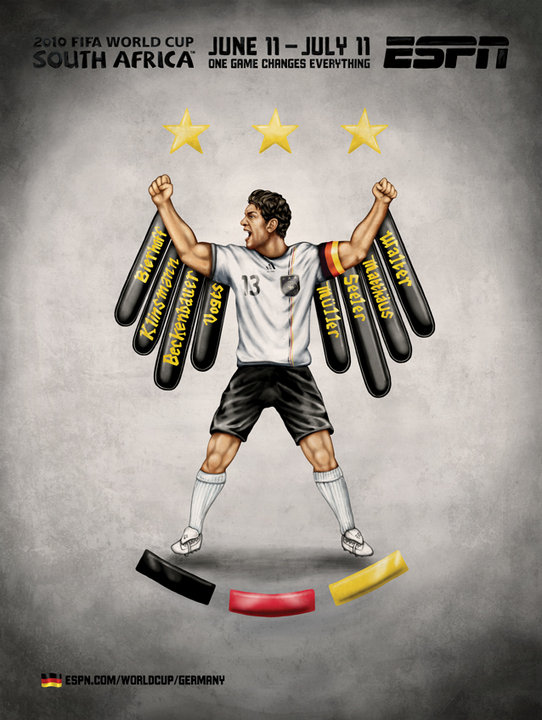 Germany ESPN's 2010 FIFA World Cup Murals