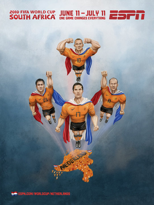 Netherlands ESPN's 2010 FIFA World Cup Murals